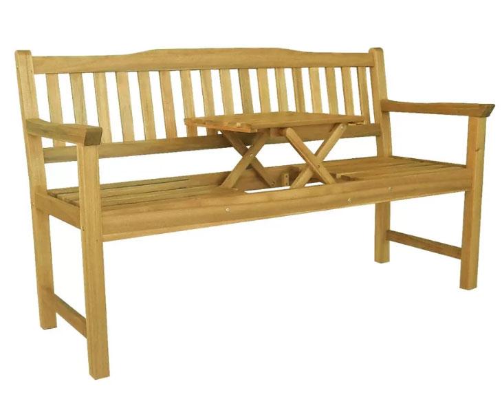 Banc Avec Table Integre Pour 2 Capacite 300kg