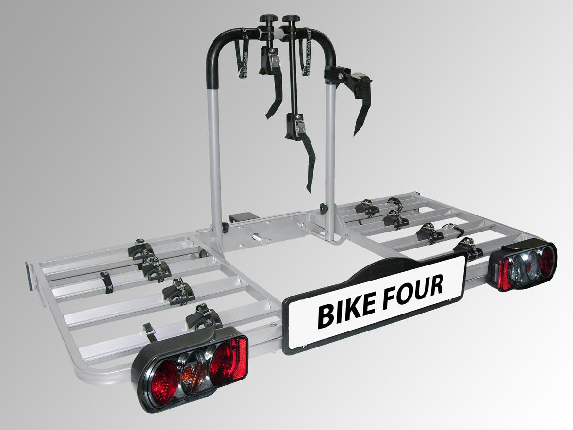 Porte Velo Sur Boule Dattelage Pour 4 Vélos Capacité 80 Kg Euro Expos