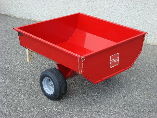 Remorque Morgnieux pour tracteur tondeuse et quad 460 Litres