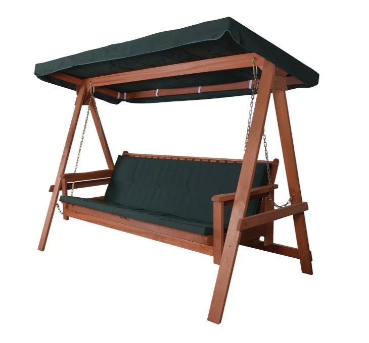 Comment Faire Une Balancelle En Palette balancelle de jardin 3places 2 position en bois méranti poids max 300kg