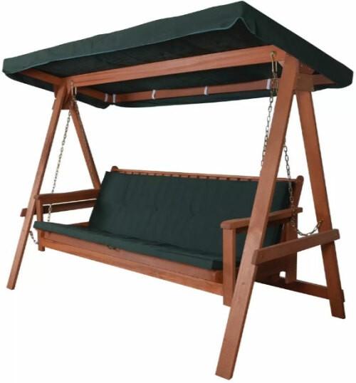Balancelle de jardin 3places 2 position en bois méranti poids max 300kg