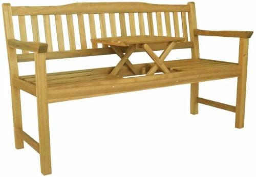 Banc Avec Table Intégré Pour 2 Capacité 300kg