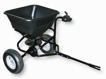 Epandeur 30 kg avec attache tracteur et roues gonflables - Roue tracteur tondeuse ...