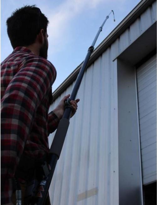 Lance télescopique toiture nettoyeur haute pression raccords rapides